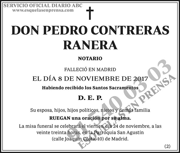 Pedro Contreras Ranera